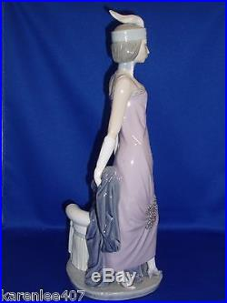LLADRO Lady with Dog Large Figurine Exquisite