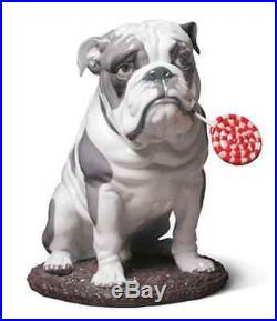 LLADRO Large dog 01009234 BULLDOG WITH LOLLIPOP 9234 New in Box