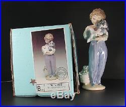 Lladro Mint 7609 My Buddy Boy With Dog With Original Box Retired Society Piece