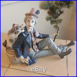 LLADRO MUSICAL PARTNERS # 5763 CLOWN with DOG MINT CONDITION FAST SHIPPING! $1075