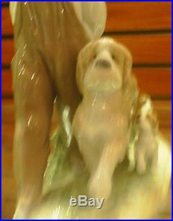 LLADRO MY LITTLE EXPLORERS BRAND NEW IN BOX 6828 MSRP $1000 Boy With Dogs US