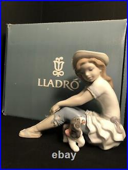 LLADRO My Playful Pet Mi Mascota 8645 In Box signed by Juan Lladro Retired Ltd