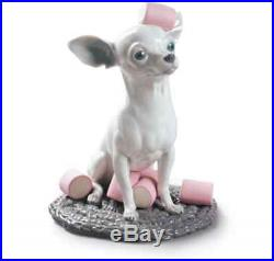 Lladro New Figurine Dog Chihuahua With Marshmallows 01009191 Brand New