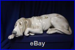 LLADRO Old Hound Dog #1067 10 INCHES LONG RETIRED Mint No orginal Box or Papers