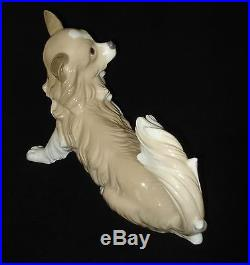 LLADRO PAPILLON DOG 10.5 x 7.5 RETIRED 1979 PORCELAIN FIGURINE # 4857 MINT