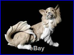 Lladro Papillon Large Dog #4857 Retired Mint