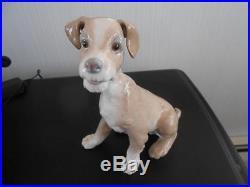 Lladro Perro Terrier Dog # 4583 1970 Retired 1981 Spain