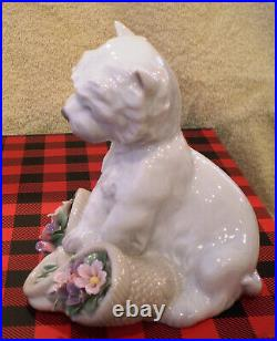 LLADRO PLAYFUL CHARACTER DOG #8207 Mint Condition