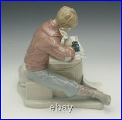 LLADRO PORCELAIN ROCKWELL LOVE LETTERS 1406 BOY WITH DOG lted ed 473/5000