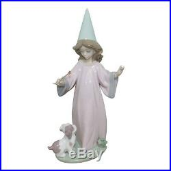 LLADRO Porcelain Figurine 6170 Under My Spell Girl With Wand And Dog Mint in Box