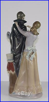 LLADRO READY TO GO #4996 FIGURINE YOUNG MAN & LADY WithDOG PERFECT