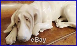 Lladro Retired Old Dog Figurine 10long Hallmark Vicente Martinez