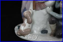 LLADRO SPAIN FIGURINE #5713 THE SNOWMAN With BOX Snowman Girl Boy & Dog