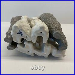 LLADRO Set of 3 #1257 Mother with Pups, #1258 Playing Dogs, #1259 Poodle EUC