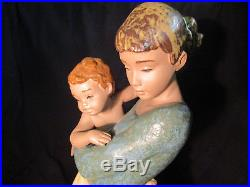 LLADRO Society RETIRED Figurine #12187 Jealous Friend Mother Child & Dog 13