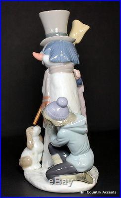 LLADRO THE SNOWMAN # 5713 BOY, GIRL & DOG with SNOWMAN MIB
