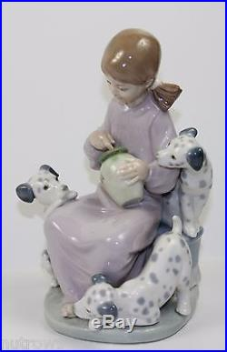 LLADRO THE SWEET-MOUTHED (HONEY LICKERS) #1248 GIRL WITH DOGS MINT WithBOX