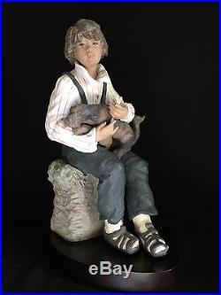 Lladro Trusting Friend Boy With Dog, Limited Edition 208/350 Sanisidro $1250