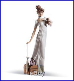 LLADRO woman lady dog 01006753 TRAVELING COMPANIONS 6753 new Box