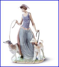 LLADRO woman lady dogs 01005802 ELEGANT PROMENADE 5802 new Box