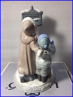 LLADROChristmas Wishes8010-Children Dog Mail Letter to Santa-Porcelain Figure