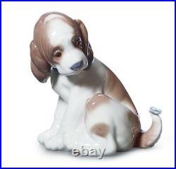 LLARDO GENTLE SURPRISE #6210 Cute Puppy Dog, Butterfly On Tail Figurine NIB