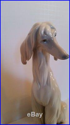 LLAdro Large afghan dog porcelain figurine, hand made in spain. Numbered