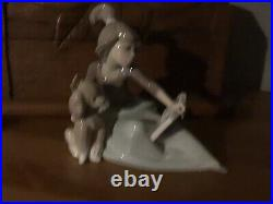 LLadro Figurine A LESSON SHARED A young girl with a book and her dog