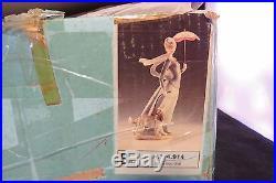 LLadro Lady With Shawl & Dog Figurine #4914 Retired Original Box