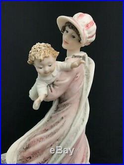 Large 10 Giuseppe Armani Figurine Play Mates Woman Baby Dog, Florence 0759C