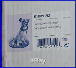 Large Lladro Figurine JACK RUSSELL With RED LICORICE Dog #9192 -R Rubio MIB