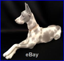 Large Lladro Great Dane Dog/Animal (1068 Excellent Condition) Gorgeous