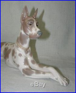 Large Lladro Harlequin GREAT DANE Dog Figure