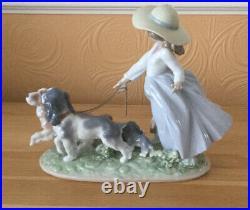Large Lladro Prestige Figure Puppy Parade 6784 Retired
