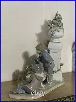 Large Lladro Puppy Dog Tails Group Figure 5539