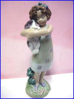 Learning To Care Girl & Dog Utopia By Lladro #8241