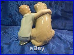 Let Me Make It Better Boy And Dog Porcelain Figurine Nao By Lladro #1577