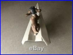 Let's Fly Away Dog On Paper Airplane Figurine By Lladro #6665