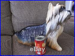 Life Size Ceramic Yorkshire Terrier Dog Statue by Hispania, DAISA, 1984 (Lladro)
