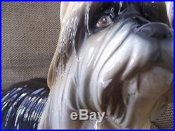 Life Size Ceramic Yorkshire Terrier Dog Statue by Hispania, DAISA, 1984 (Lladro)