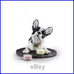 Lladro 01009398 French Bulldog with Macarons Dog Figurine 01009398