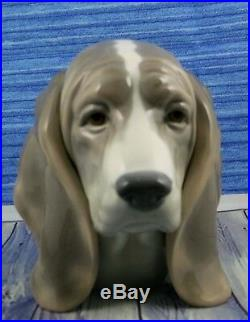 Lladro # 1149 DOG'S HEAD Beagle Bust MINT