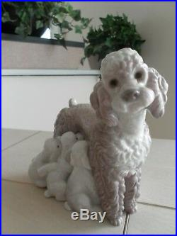 Lladro # 1257 Mother With Pups L@@k! Dog & Pups Mint Condition Fast Shipping