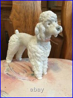 Lladro 1259 Woolly Dog, Poodle Standing Retired! Mint Condition! No Box! L@@K