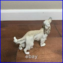 Lladro 1282 Afghan Hound Dog Figurine Retired MINT Condition with Box RARE