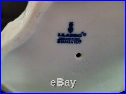 Lladro 1977 Signed Young Girl Nun With A Dog Scotty Westie Sitting Lantern RARE
