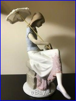 Lladro 1989 Picture Perfect Society figurine #7612 Lady Dog Parasol
