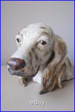 Lladro #2045 Setter Dog Figurine Head Bust