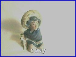 Lladro # 2167 Retired Fernando Gres Finish Boy With Dog Mint