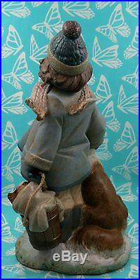 Lladro # 2517 WINTER WIND Girl With Dogs MINT BUY1 GET1 50% OFF